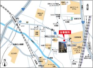 駅から事務所までの案内地図